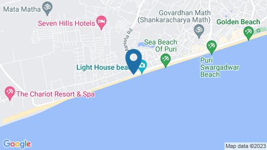 Goroomgo Tapati Villa Puri Map