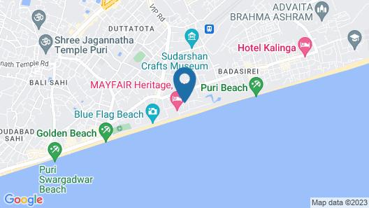 Hotel Vijoya International Map