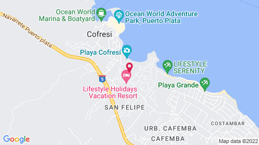 Lifestyle Crown Residence Suites - All Inclusive Map