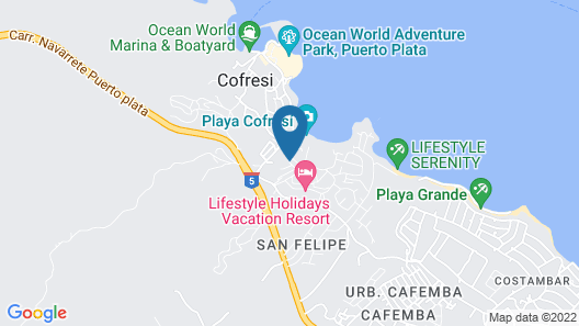 Cofresi Palm Beach & Spa Resort All Inclusive Map