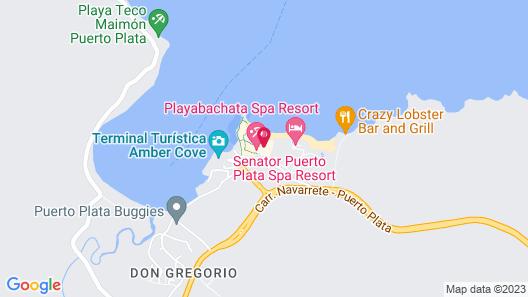 Senator Puerto Plata Spa Resort All Inclusive  Map