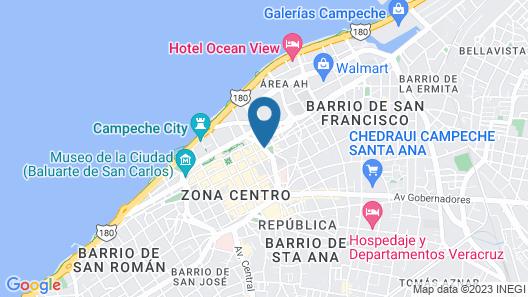 Hotel Plaza Campeche Map