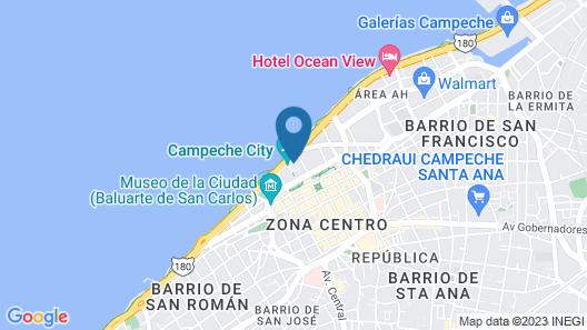 Gamma by Fiesta inn Campeche Malecón Map
