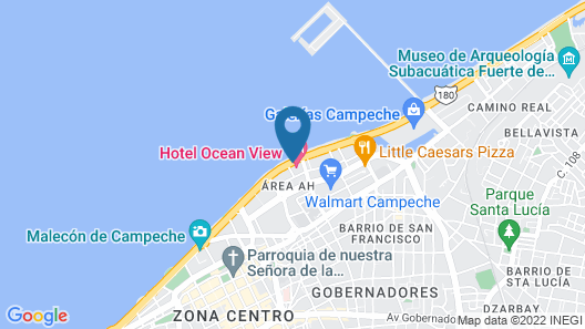 Ocean View Hotel Map