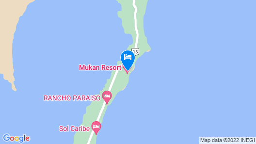 Mukan Resort, South of Tulum Map