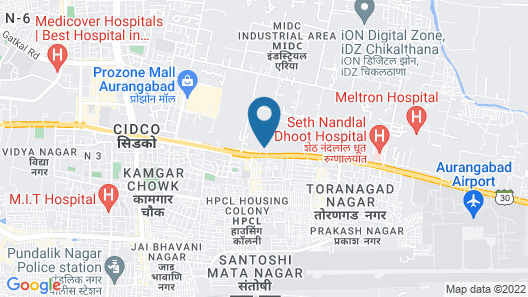 Aurangabad Gymkhana Club Map
