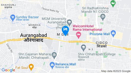 Hotel Vijay Residency Map