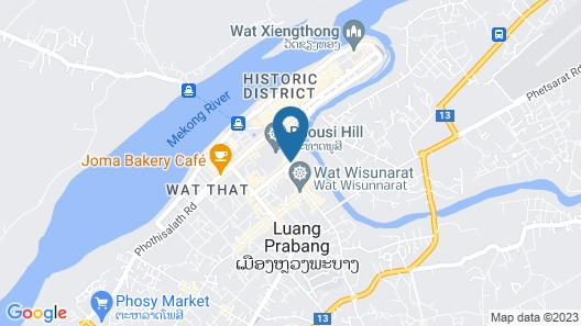 Luang Prabang Hotel by Villa Merry Lao 3 Map