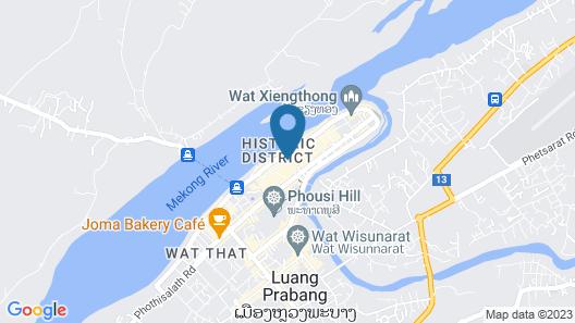 Pakhongthong villa Saynamkhan Vat Nong Map
