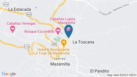 Cabanas Berna Map