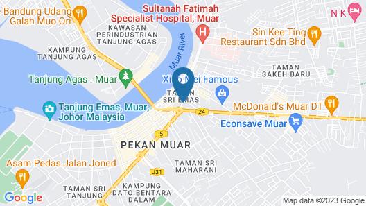 Riverview Hotel Muar Map