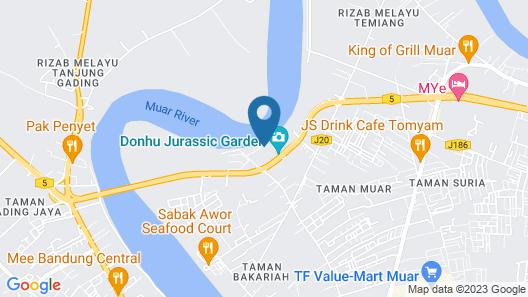 Sabak Awor Resort Map