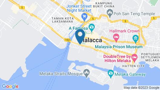 Holiday Inn Melaka Map