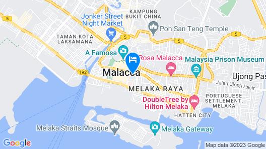 Hatten Hotel Melaka Map
