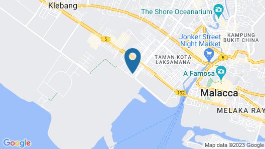 BB Villas - 5 min Jonker Melaka Map