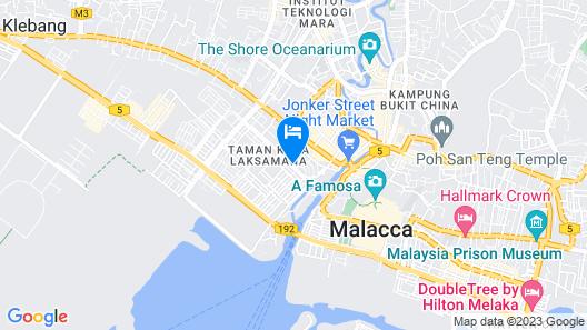 Casa del Rio Melaka Map
