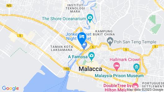 Timez Hotel Melaka Map