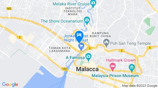 Hotel Zamburger Heritage Melaka Map