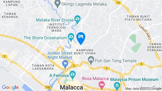 ibis Melaka Map
