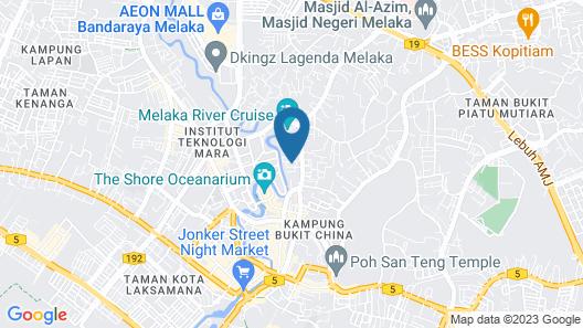 The Pines Melaka Map