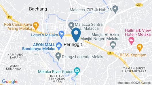 Izora Homestay Melaka Map