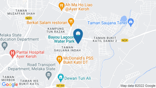 Junika B Lagoon Melaka Map