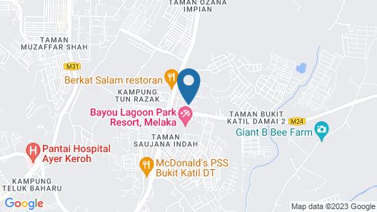 Bayou Lagoon Park Resort Residence Map