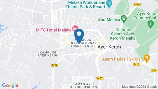 Mudzaffar Hotel Melaka Map
