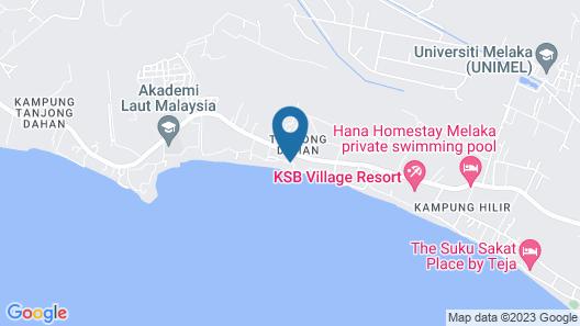 D'Pantai Homestay Kuala Sg. Baru Map