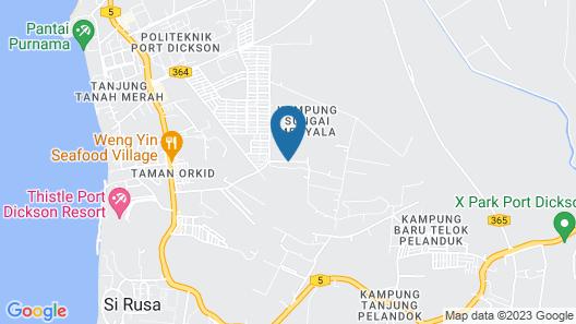 Familia Boutique Homestay Port Dickson Map