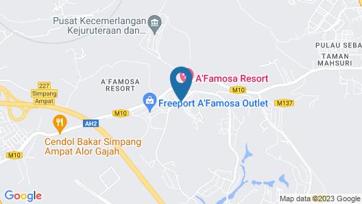 A'Famosa Resort Map
