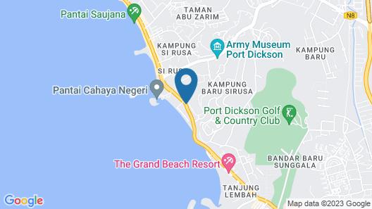 Bayu Beach Resort Map