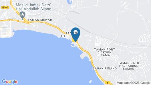 Corus Paradise Resort Port Dickson Map