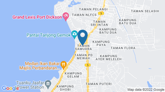 PD Sea Front Hotel Map
