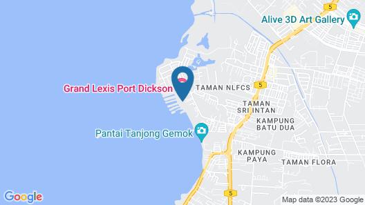 Wonderland Villa at Port Dickson Map