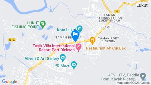 Tasik Villa International Resort Map