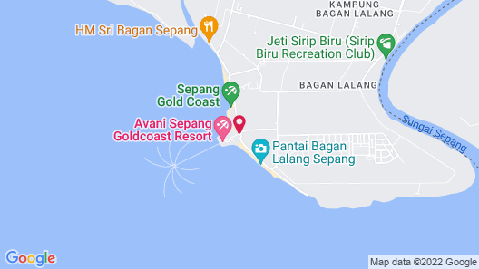 Avani Sepang Goldcoast Resort Map