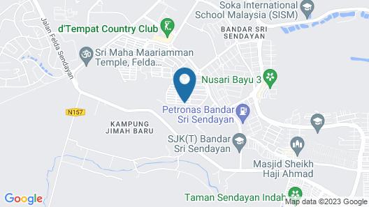 Salam Homestay d'Sendayan Map