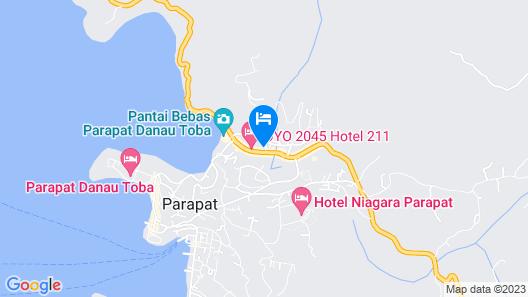 RedDoorz near Danau Toba Parapat Map
