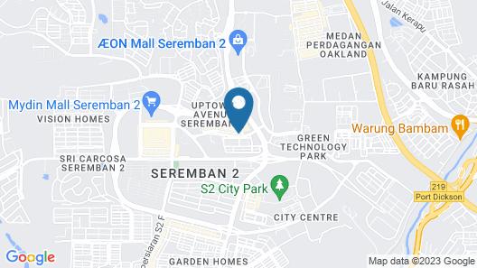 Uptown Hotel Seremban Map