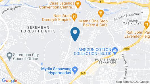 Villa Kiambang Map