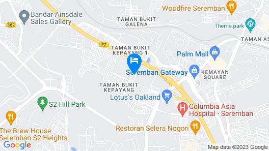 Five Hotel Map