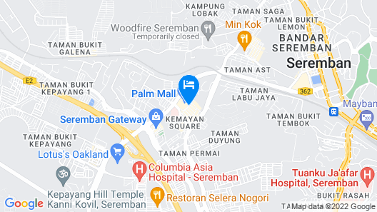 Palm Seremban Hotel Map