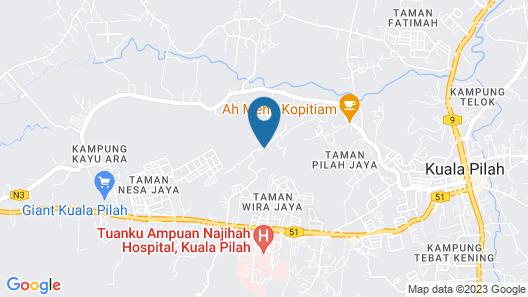 Twin Castle Homestay Kuala Pilah Map