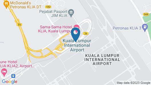 Sama-Sama Express KLIA Airside Transit Hotel Map