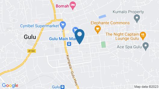 Gulu Crystal Hotel Map