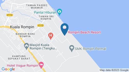 Rompin Beach Resorts Map