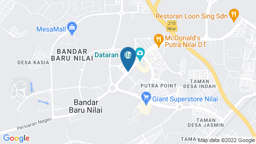 Hotel Golden View Nilai Map
