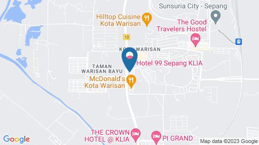 Hotel 99 Sepang KLIA Map