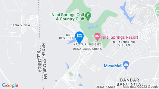 Sri Beverly Hills Near KLIA & KLIA2 & F1 Map